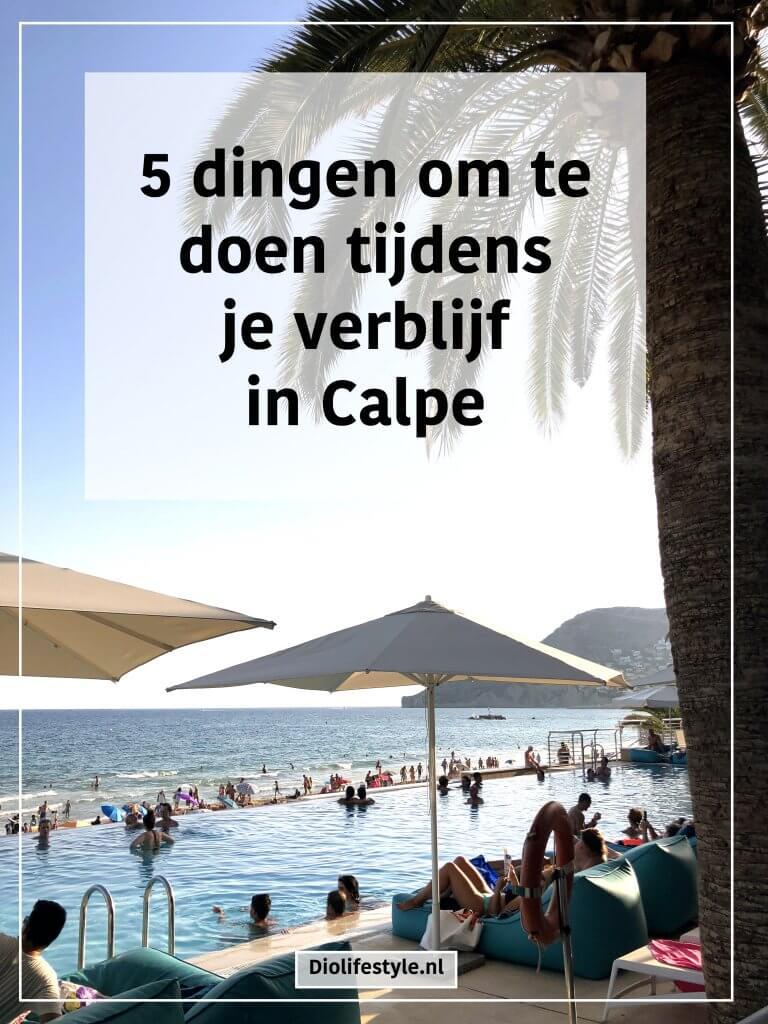 5 dingen om te doen tijdens je verblijf in Calpe