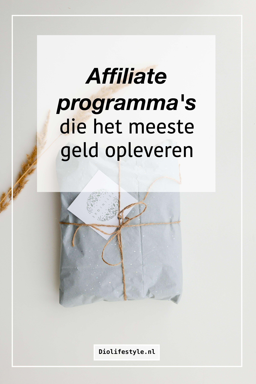 Affiliate programma's die het meeste geld opleveren