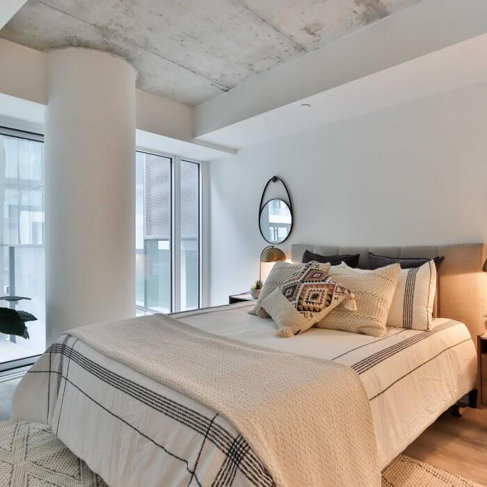 Een hotel chique slaapkamer